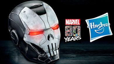 Photo of Hasbro se pule con el casco electrónico de Marvel Legends War Machine/ Punisher