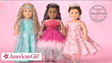 Photo of Mattel subasta 3 muñecas American Girl adornadas con cristales Swarovski