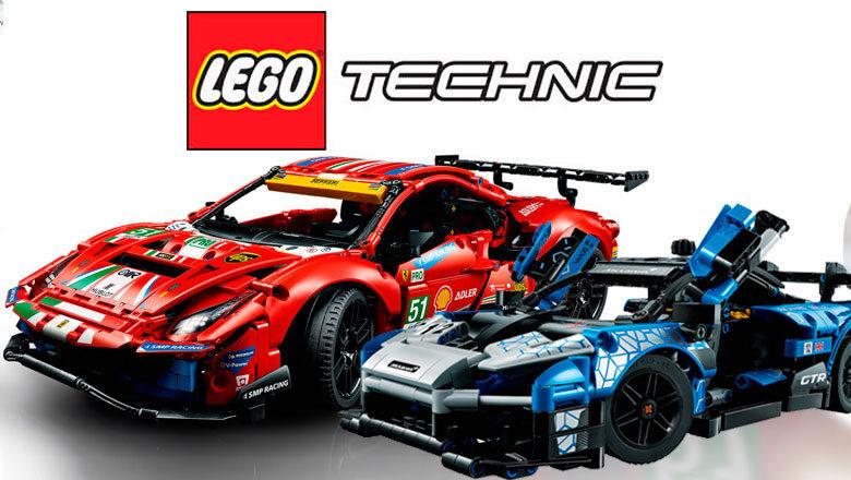 El McLaren Senna GTR y el Ferrari 488 GTE llegan a LEGO Technic