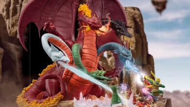 Photo of Iron Studios presenta una épica estatua de Tiamat (Calabozos & Dragones)
